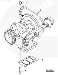 Прокладка турбины Cummins 4BT-6BT ISCe C300 3901356