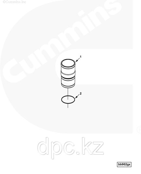 Кольцо уплотнительное гильзы цилиндров Cummins ISLe 3907177 3917737