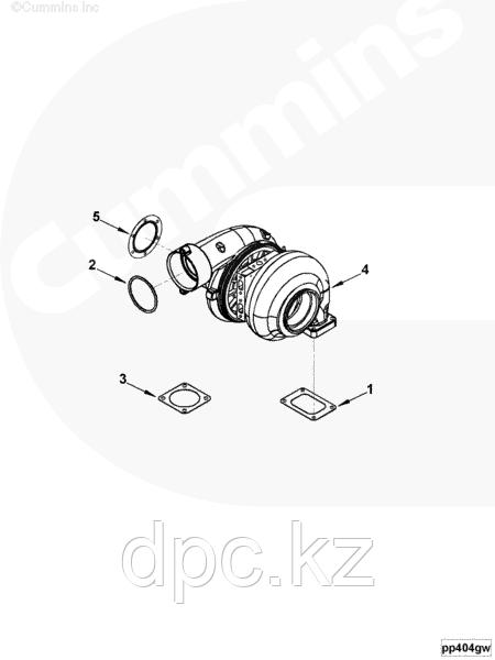 Кольцо турбокомпрессора Cummins ISBe 150/185 3066211