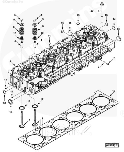 Клапан выпускной Cummins ISLe 310-375 л.с. Е-3 3942589 3800341