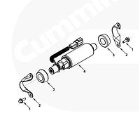 Насос подкачки топлива Cummins ISC, ISL 5260634 3968190