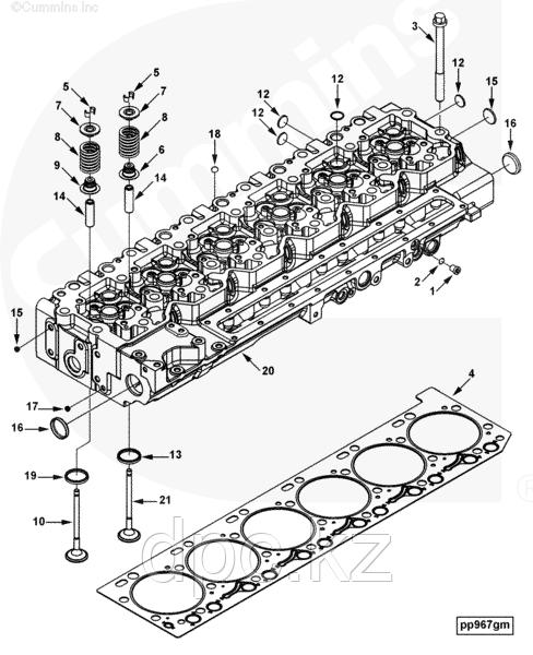 Заглушка головки блока цилиндров (13мм) Cummins ISB 3945094