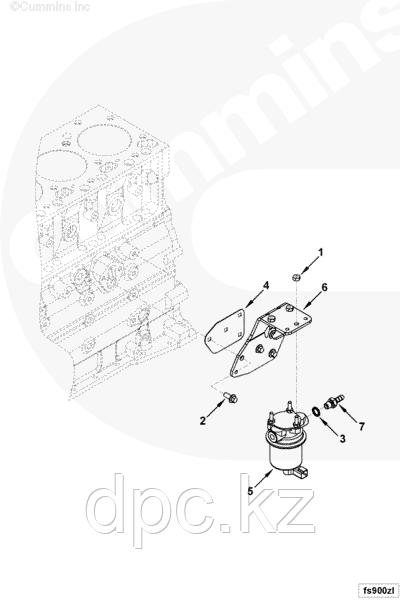Топливный насос низкого давления (ТННД) Cummins QSB 4943049