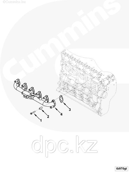 Втулка болта выпускного коллектора Cummins 3945252