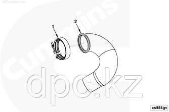 Хомут приемной трубы (D=71.6-81.8) Cummins ISBe ISDe QSB 3903652 XS-9009