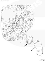 Хомут впускного коллектора (D=107) Cummins ISC ISL 3067979