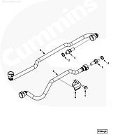 Трубка топливная от ТНВД к рампе Cummins ISLe ISC 4946580