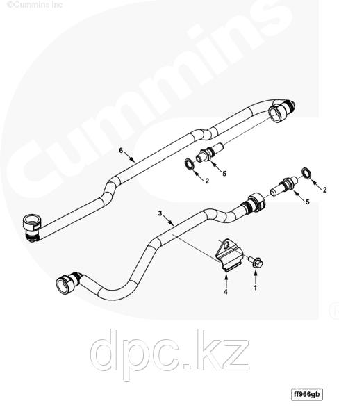 Трубка топливная от фильтра к ТНВД Cummins L C 4932396