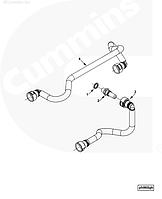 Трубка топливная (короткая) от фильтра к ТНВД Cummins ISLe 3966128