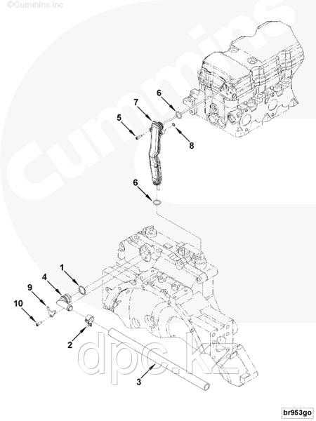 Трубка сапуна двигателя Cummins 4ISBe 3971371