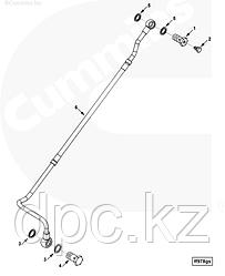 Трубка подачи топлива к ТНВД Cummins ISLe 375 л.с. Евро-2 3937342 3926263 3918772