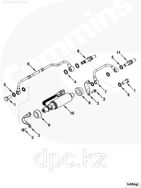Клапан ТННД Cummins QSL 3967782