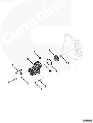Компрессор воздушный Cummins ISF 3.8L 4932265