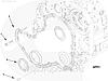 Крышка двигателя (передних распределительных шестерен) Cummins 6BT 3923898 3917800 3917801, фото 3