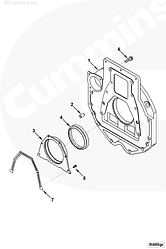 Сальник коленвала задний (130x150x14,5) Cummins 4-6BT 6CT ISBe ISDe 3925529