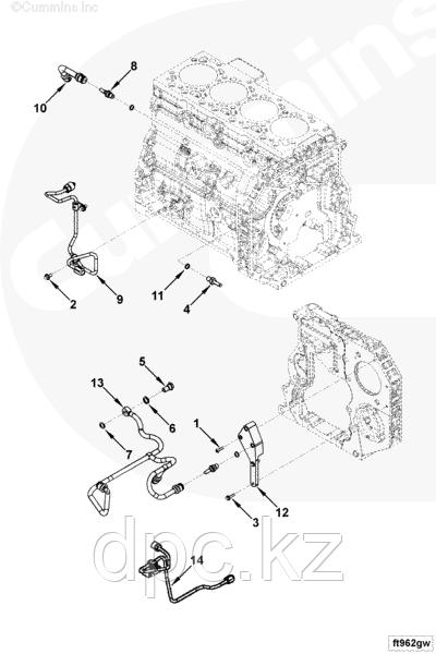 Трубка топливная Cummins двигателей ISBe или ISDe 4933420 3977934