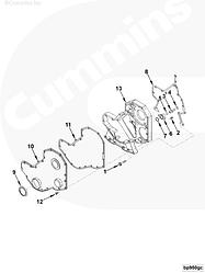 Прокладка передней крышки Cummins 4-6BT 3960319