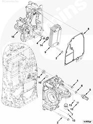 Теплообменник масляный (масляный охладитель) Cummins ISF3.8 4990291