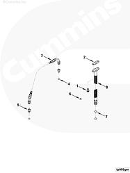 Трубка слива масла с турбины Cummins 6CT 3928629 3926842