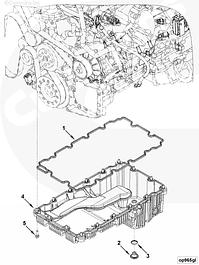 Поддон масляный, пробки, прокладки двигателя Cummins ISF 3.8L
