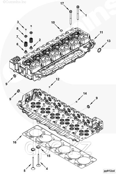 Прокладка головки блока цилиндров (1.15 mm) Cummins 6ISBe 250 4898412 4898851 4894725 2830705