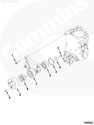 Шкив привода вентилятора Cummins ISF 2.8 5270363
