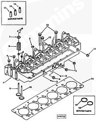 Клапан выпускной Cummins (4BT-6BTA) EQB140/210-20 3901607 3901608 3920868
