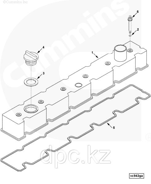 Прокладка клапанной крышки Cummins 6CT 3905449