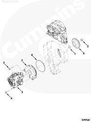 Шестерня ТНВД (топливного насоса высокого давления) Cummins ISF 2,8L 5256325