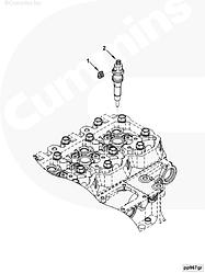 Кольцо топливной трубки (соединение обратки) прокладка Cummins 4BT-6BT 3903380 4942278