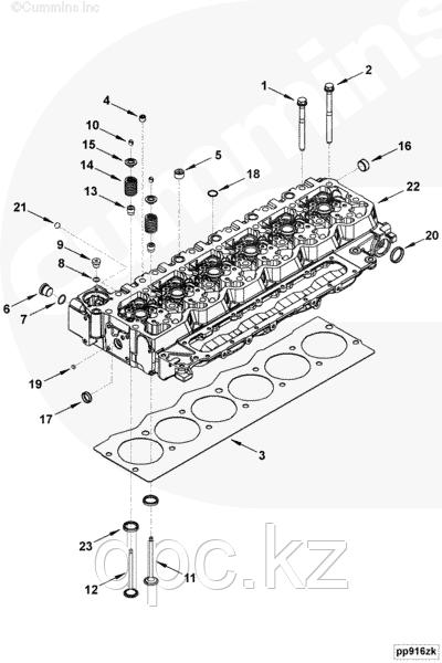 Прокладка головки блока цилиндров (1.25 mm) Cummins 6ISBe 5,9 250 2830704 4898413 4898850 4894724