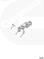 Прокладка выпускного коллектора Cummins 4BT-6BT 3929881