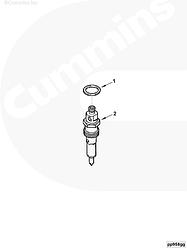 Уплотнительное кольцо форсунки (медь) Cummins 4BT 6BT 6CТ 3906659 3920174