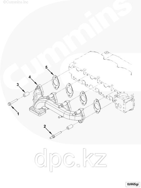Прокладка выпускного коллектора Cummins ISBe ISDe ISF 3.8 2830444 4896350 3955339