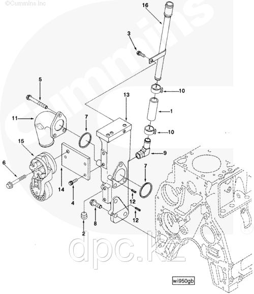 Кольцо уплотнительное боковой крышки двигателя Cummins B 3906697 3901467