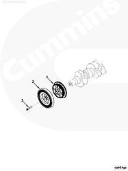 Демпфер двигателя Cummins ISBe 4991131