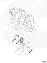 Прокладка приемной трубы металлическая Cummins ISF 4995186