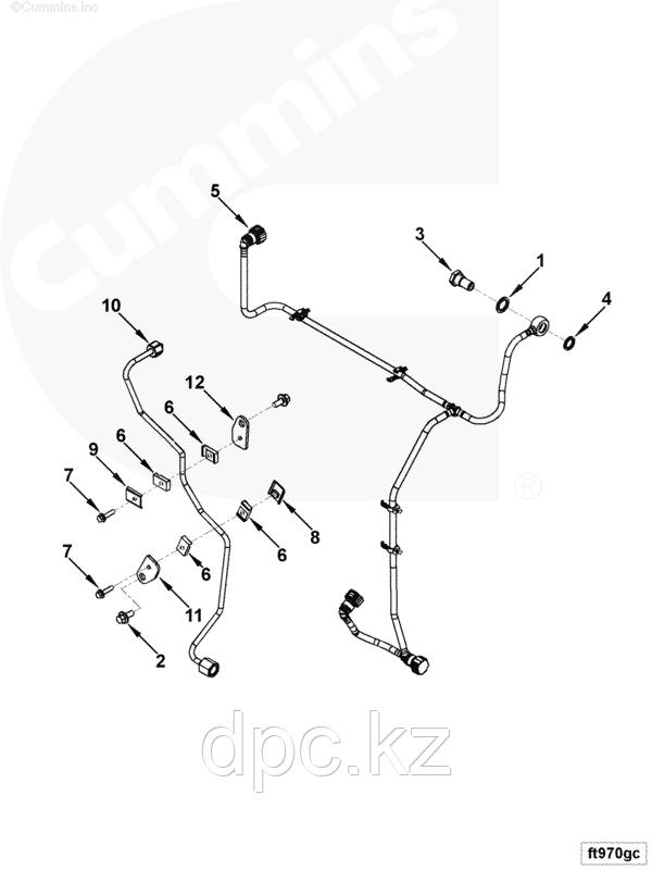 Трубка топливная (возвратная форсунок) Cummins ISF 3.8L 4990798