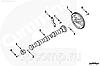Скоба распределительного вала Cummins ISB ISD ISF3.8L 4897457 5258931, фото 4
