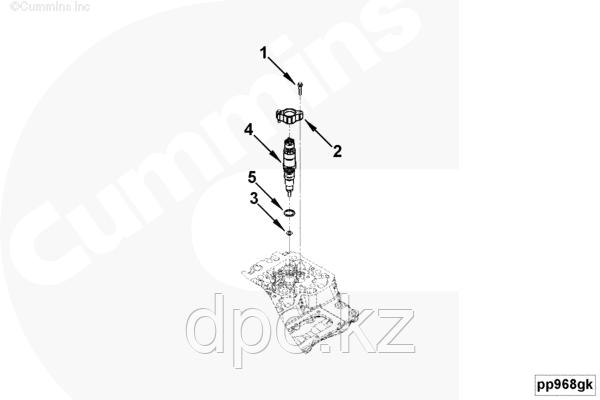 Кольцо уплотнительное форсунки Cummins ISB ISF 5288373