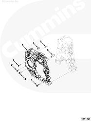Болт (M12 x 1.75 x 30) Cummins ISF ISBe ISLe 3910495