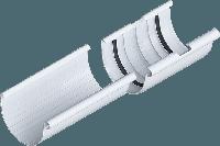 Муфта желоба, диаметр 125 мм, Альта-Профиль белая (Россия)