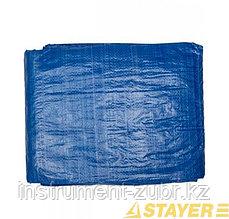 """Тент-полотно STAYER """"MASTER"""" универсальный, из тканого полимера плотностью 65 г/м3, с люверсами, водонепроницаемый, 2мх2м"""
