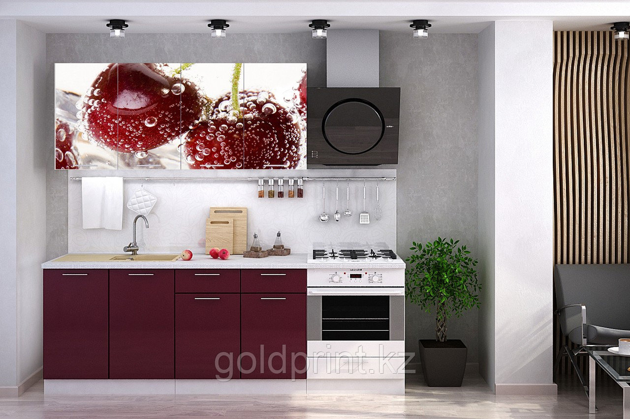 УФ Печать на Кухонных гарнитурах Вишня