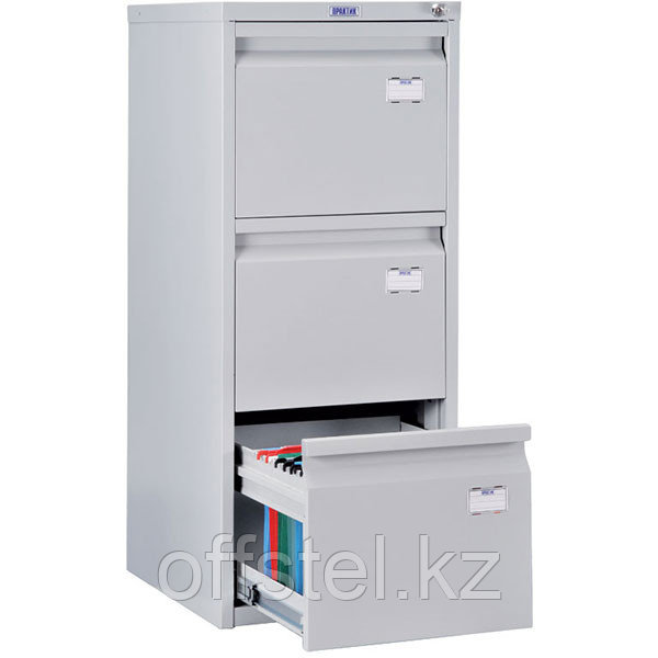 Металлический картотечный шкаф (картотека) ПРАКТИК A-43