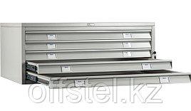 Металлический картотечный шкаф (картотека) ПРАКТИК A1-05/1