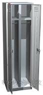 Двухсекционный металлический шкаф для одежды ШРМ-22-800