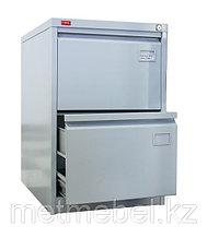 Картотечный шкаф металлический двухсекционный для документов КР-2