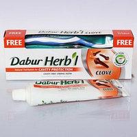 Зубная паста с гвоздикой DABUR HERB'L TOOTH PASTE CLOVE 150 гр + Зубная щетка в подарок