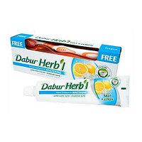 """Зубная паста """"Отбеливающая"""" с солью и лимоном DABUR HERB'L TOOTH PASTE SALT & LEMON - WHITENING 150 гр + Зубн"""